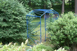 Native Wisteria Arbor with contemporary fan pattern- 9' x 7' x 3'