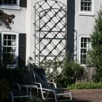 Chimney Wall Trellis w/ Diamond Grid and Rosettes