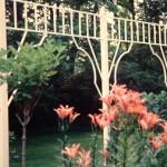 "Garden Border Trellis with 2 1/2"" square posts- 8' x 18'"