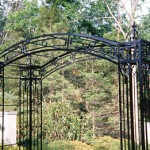 Rose Arbor with Chestnut Hill Towers as legs- 9' x 8 1/2' x 3 1/2'