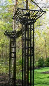 Trellis Gateway with two columns- 10' x 8 1/2' x 2 1/2'