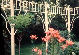 "Garden Border Trellis with 2 1/2"" square posts- 8' x 18'"